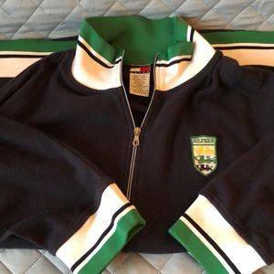 Vintage Tommy Hilfiger navy blue and green zip up